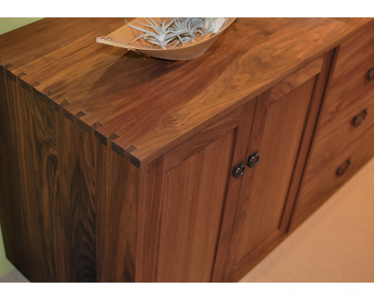 Tansu Sideboard in Eastern Walnut with Tansu Pulls