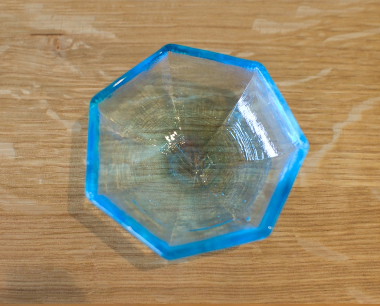 Vitreluxe Heptagon Salt Bowl Top View