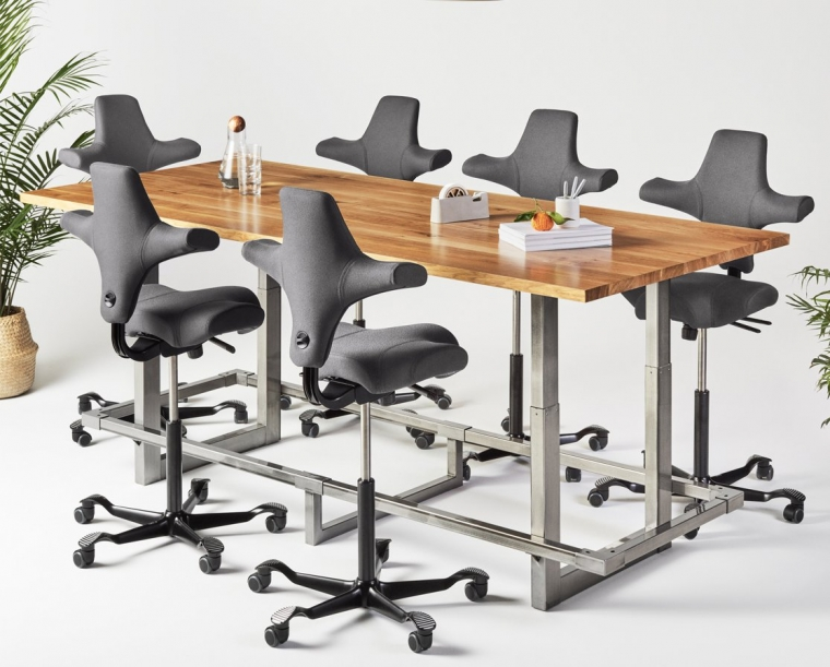 Jarvis Adjustable Standing Conference Table The Joinery - Standing conference room table
