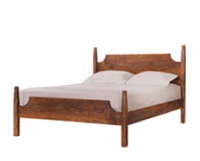 Arts and Crafts Bed in Western Walnut by The Joinery