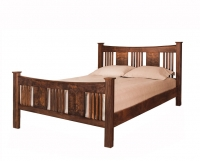 Sorenson Reverse Bed in Western Walnut with panels and slats