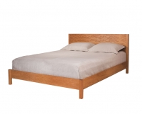 Modern simple bed in Cherry with oil finish by The Joinery