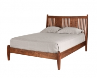Lorelei Bed in Western Walnut with panels and slats made by The Joinery