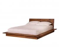 Nehalem Platform bed in Eastern Walnut by The Joinery
